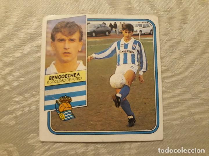 BENGOECHEA REAL SOCIEDAD NUNCA PEGADO ED ESTE LIGA 89 90 1989-90 (Coleccionismo Deportivo - Álbumes y Cromos de Deportes - Cromos de Fútbol)