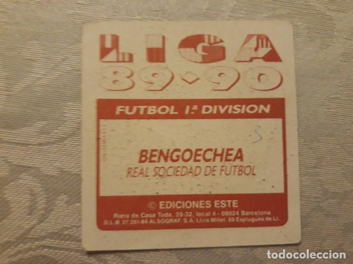 Cromos de Fútbol: BENGOECHEA REAL SOCIEDAD NUNCA PEGADO ED ESTE LIGA 89 90 1989-90 - Foto 2 - 195060151