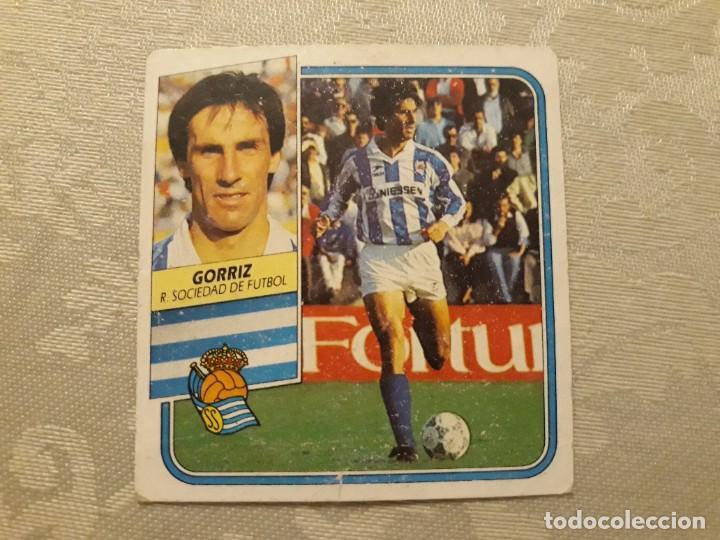GORRIZ REAL SOCIEDAD NUNCA PEGADO ED ESTE LIGA 89 90 1989-90 (Coleccionismo Deportivo - Álbumes y Cromos de Deportes - Cromos de Fútbol)