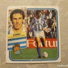 Cromos de Fútbol: GORRIZ REAL SOCIEDAD NUNCA PEGADO ED ESTE LIGA 89 90 1989-90. Lote 195060156