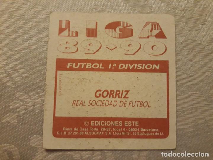 Cromos de Fútbol: GORRIZ REAL SOCIEDAD NUNCA PEGADO ED ESTE LIGA 89 90 1989-90 - Foto 2 - 195060156