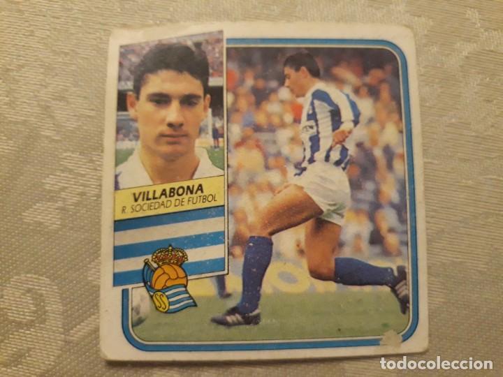 VILLABONA REAL SOCIEDAD NUNCA PEGADO ED ESTE LIGA 89 90 1989-90 (Coleccionismo Deportivo - Álbumes y Cromos de Deportes - Cromos de Fútbol)