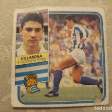 Cromos de Fútbol: VILLABONA REAL SOCIEDAD NUNCA PEGADO ED ESTE LIGA 89 90 1989-90. Lote 195060166