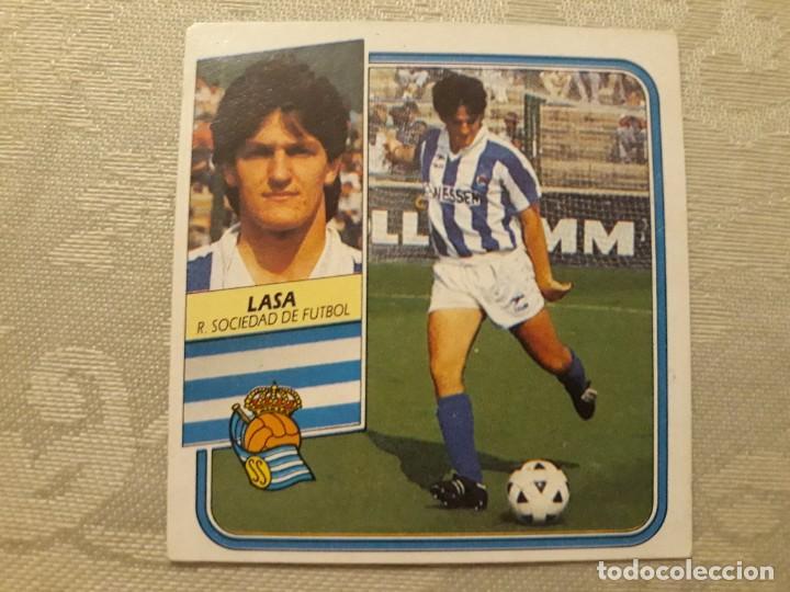 LASA REAL SOCIEDAD NUNCA PEGADO ED ESTE LIGA 89 90 1989-90 (Coleccionismo Deportivo - Álbumes y Cromos de Deportes - Cromos de Fútbol)