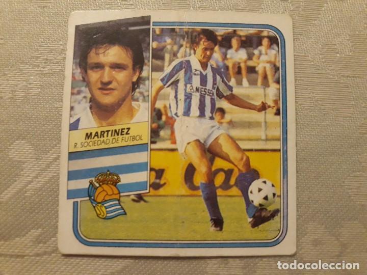 MARTINEZ REAL SOCIEDAD NUNCA PEGADO ED ESTE LIGA 89 90 1989-90 (Coleccionismo Deportivo - Álbumes y Cromos de Deportes - Cromos de Fútbol)