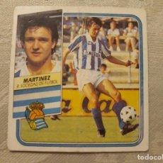 Cromos de Fútbol: MARTINEZ REAL SOCIEDAD NUNCA PEGADO ED ESTE LIGA 89 90 1989-90. Lote 195060180