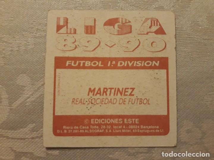 Cromos de Fútbol: MARTINEZ REAL SOCIEDAD NUNCA PEGADO ED ESTE LIGA 89 90 1989-90 - Foto 2 - 195060180