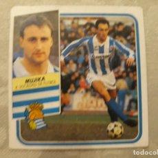 Cromos de Fútbol: MUJIKA REAL SOCIEDAD NUNCA PEGADO ED ESTE LIGA 89 90 1989-90. Lote 195060185