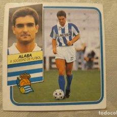 Cromos de Fútbol: ALABA REAL SOCIEDAD NUNCA PEGADO ED ESTE LIGA 89 90 1989-90. Lote 195060197