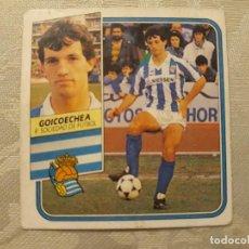 Cromos de Fútbol: GOICOECHEA REAL SOCIEDAD NUNCA PEGADO ED ESTE LIGA 89 90 1989-90. Lote 195060202