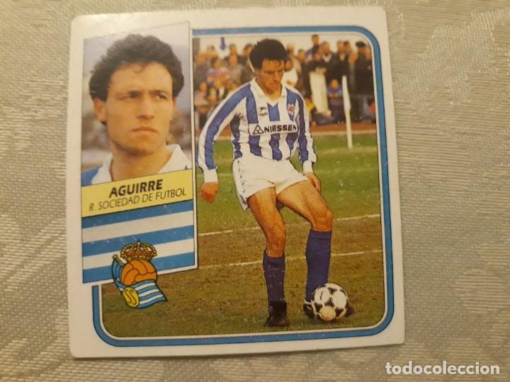 AGUIRRE REAL SOCIEDAD NUNCA PEGADO ED ESTE LIGA 89 90 1989-90 (Coleccionismo Deportivo - Álbumes y Cromos de Deportes - Cromos de Fútbol)