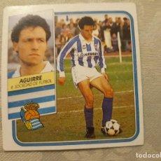 Cromos de Fútbol: AGUIRRE REAL SOCIEDAD NUNCA PEGADO ED ESTE LIGA 89 90 1989-90. Lote 195060207