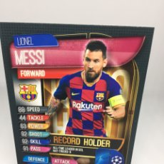 Cromos de Fútbol: MESSI MATCH ATTAX EXTRA 2019/2020 RECORD HOLDER RH4 BARCELONA. Lote 195062685