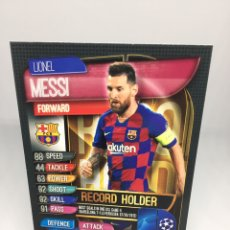 Cromos de Fútbol: MESSI MATCH ATTAX EXTRA 2019/2020 RECORD HOLDER RH2 BARCELONA. Lote 195062697