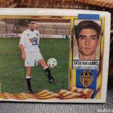 Cromos de Fútbol: CROMO EDICIONES ESTE TEMPORADA 95-96 JAVI NAVARRO COLOCA DOBLE VERSIÓN. Lote 195112818