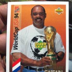 Cromos de Fútbol: TARJETA DE UPPER DECK MUNDIAL ESTADOS UNIDOS 1994 HONORARY CAPTAIN REGGIE JACKSON. Lote 195155601
