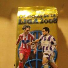 Cromos de Fútbol: 10 SOBRES SIN ABRIR - LAS FICHAS DE LA LIGA 2008. Lote 195156512