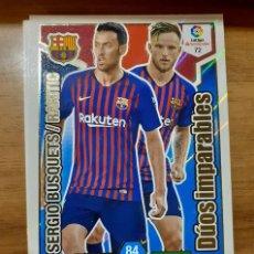 Cromos de Fútbol: TRADING CARD ADRENALYN 2018/19, EDITORIAL PANINI, JUGADOR S. BUSQUETS/RAKITIC (D. IMPARABLES), Nº 72. Lote 195186786