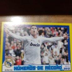 Cromos de Fútbol: CROMO COLECCIÓN OFICIAL R. MADRID, TEMPORADA 2011/12, EDITORIAL PANINI,JUGADOR C. RONALDO. Nº 188. Lote 195241178