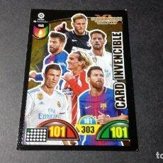 Cromos de Fútbol: 468 CARD INVENCIBLE MESSI RONALDO ... PANINI ADRENALYN XL LIGA2017 2018 17 18 NO ESTE ALBUM. Lote 195248593