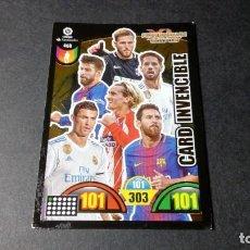 Cromos de Fútbol: 468 CARD INVENCIBLE MESSI RONALDO ... PANINI ADRENALYN XL LIGA2017 2018 17 18 NO ESTE ALBUM. Lote 195248596