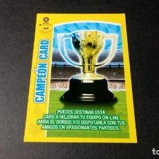 Cromos de Fútbol: 469 CAMPEON CARD PANINI ADRENALYN XL LIGA2017 2018 17 18 NO ESTE ALBUM. Lote 195248615