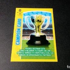 Cromos de Fútbol: 469 CAMPEON CARD PANINI ADRENALYN XL LIGA2017 2018 17 18 NO ESTE ALBUM. Lote 195248618