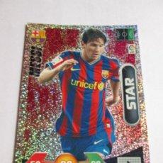 Cromos de Fútbol: MESSI BARCELONA STAR 09 10 ADRENALYN XL LIGA 2009 2010 BRILLANTINA GRUESA. Lote 195249178