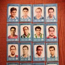 Cromos de Fútbol: LOTE 16 CROMOS FUTBOL 1957 1957 56 57 CHOCOLATES PROVI Y PINKI - NUNCA PEGADOS. Lote 195251600