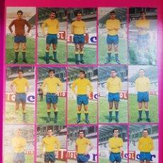 Cromos de Fútbol: RUIZ ROMERO 1969-1970 LAS PALMAS 17 CROMOS EQUIPO COMPLETO 69-70. Lote 195260853