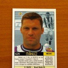 Cromos de Fútbol: VALLADOLID - Nº 626, MÁRQUEZ - ÚLTIMA HORA - LAS FICHAS DE LIGA MUNDICROMO 1999-2000, 99-00. Lote 195261652