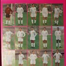 Cromos de Fútbol: RUIZ ROMERO 1969-1970 VALENCIA 17 CROMOS EQUIPO COMPLETO 69-70. Lote 195261910