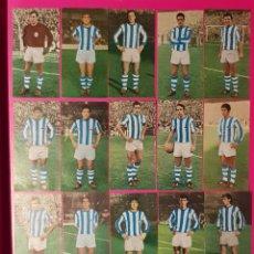 Cromos de Fútbol: RUIZ ROMERO 1969-1970 REAL SOCIEDAD 17 CROMOS EQUIPO COMPLETO 69-70. Lote 195262387