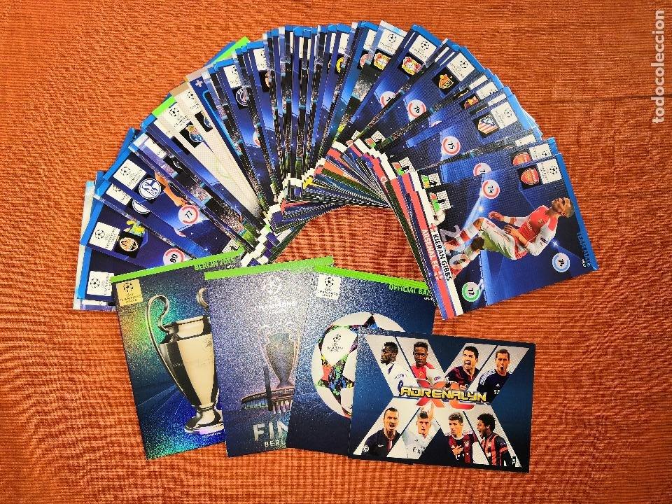 LOTE CARDS ADRENALYN XL CHAMPIONS 2014-2015 14 15 ACTUALIZACION UPDATE EDITION (Coleccionismo Deportivo - Álbumes y Cromos de Deportes - Cromos de Fútbol)