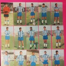 Cromos de Fútbol: RUIZ ROMERO 1969-1970 MALAGA 16 CROMOS EQUIPO COMPLETO 69-70. Lote 195267426