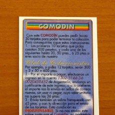 Cromos de Fútbol: COMODÍN - LAS FICHAS DE LIGA MUNDICROMO 2000-2001, 00-01. Lote 195267472