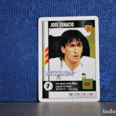 Cromos de Fútbol: JOSE IGNACIO VALENCIA CF MARCA SUPERGOL 1995 1996 CARTA FOURNIER TARJETA 95 96 LIGA FUTBOL CROMO . Lote 195325691