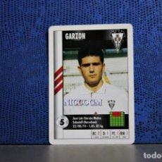 Cromos de Fútbol: GARZON ALBACETE MARCA SUPERGOL 1995 1996 CARTA FOURNIER TARJETA 95 96 LIGA FUTBOL CROMO . Lote 195336190