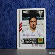 Cromos de Fútbol: BRAU ALBACETE MARCA SUPERGOL 1995 1996 CARTA FOURNIER TARJETA 95 96 LIGA FUTBOL CROMO . Lote 195336315