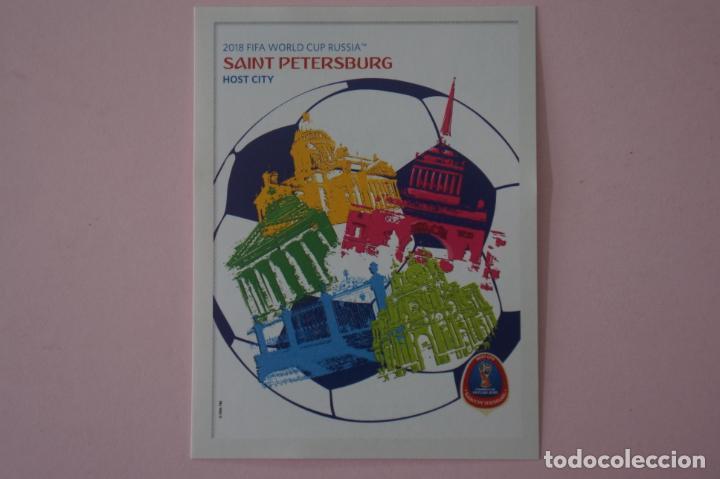 CROMO DE FÚTBOL LOGOTIPO SEDE SAN PETESBURGO SIN PEGAR Nº 23 MUNDIAL RUSIA 2018 DE PANINI (Coleccionismo Deportivo - Álbumes y Cromos de Deportes - Cromos de Fútbol)