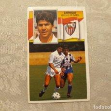 Cromos de Fútbol: CARVAJAL SEVILLA CF NUNCA PEGADO ED ESTE 90 91 CROMO FUTBOL LIGA 1990 1991. Lote 195432273