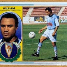 Cromos de Fútbol: ESTE 1996-1997: WILLIAM (SD COMPOSTELA) FICHAJE NÚMERO 1 BIS. Lote 195472170