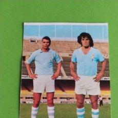Cromos de Fútbol: CELTA 34 HIDALGO RIVAS RUIZ ROMERO 75 76 1975 1976 RECUPERADO. Lote 195502936