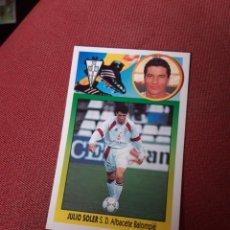 Cromos de Fútbol: ESTE 93 94 1993 1994 JULIO SOLER ALBACETE JULIO SOLER. Lote 195530825