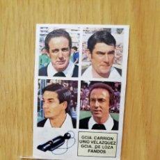 Cromos de Fútbol: ESTE LIGA 82/83.. ÁRBITROS.. GARCÍA CARRION-URIA.. RECUPERADO.... Lote 195534362