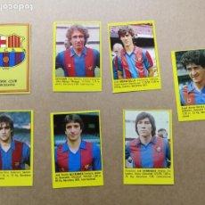 Cromos de Fútbol: 7 CROMOS DEL FC BARCELONA, SUPER FÚTBOL 84 ROLLAN, NUEVOS Y DISTINTOS. . Lote 195544781