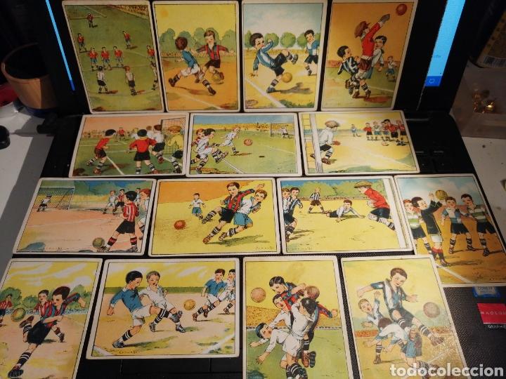 COLECCION COMPLETA ENSEÑANZA DEL FOOT BALL FUTBOL (Coleccionismo Deportivo - Álbumes y Cromos de Deportes - Cromos de Fútbol)