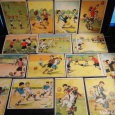 Cromos de Fútbol: COLECCION COMPLETA ENSEÑANZA DEL FOOT BALL FUTBOL. Lote 195850272