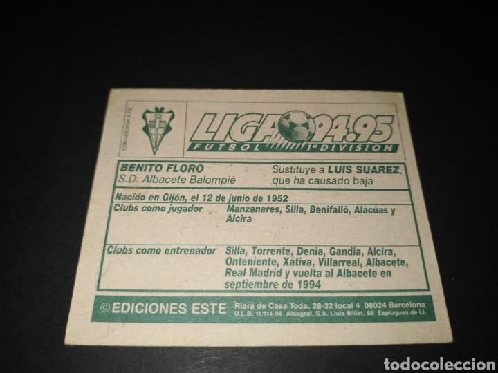 Cromos de Fútbol: BENITO FLORO - ALBACETE COLOCA - LIGA ESTE 94 95 1994 1995 - SIN PEGAR - Foto 2 - 196232490