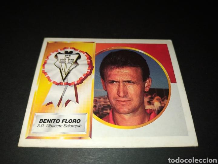 BENITO FLORO - ALBACETE COLOCA - LIGA ESTE 94 95 1994 1995 - SIN PEGAR (Coleccionismo Deportivo - Álbumes y Cromos de Deportes - Cromos de Fútbol)